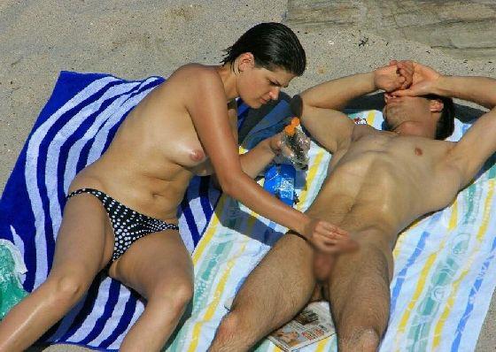 エロヌーディストビーチのヌード