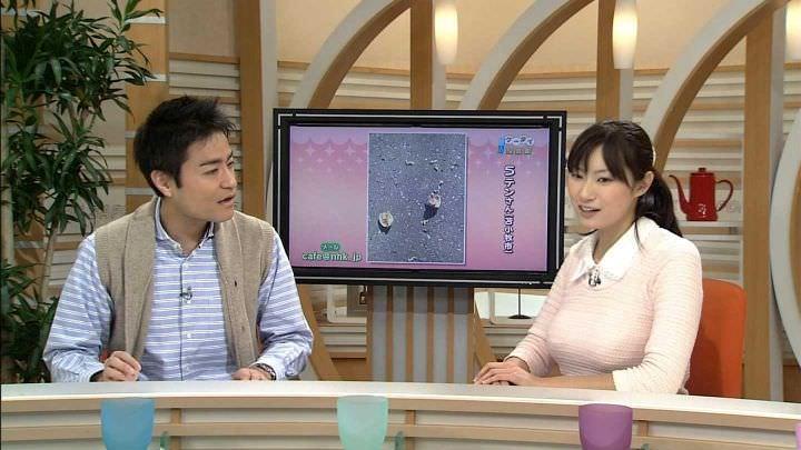 女子アナ千葉雅美モロにマンスジやハミマンエロGIF画像