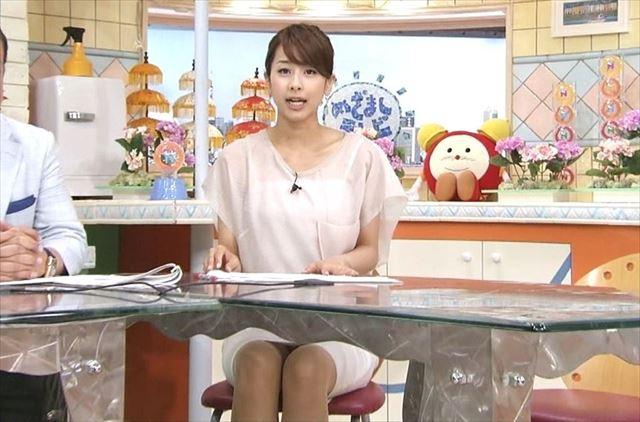 女子アナの加藤綾子パンチラノーブラなエロ画像が抜ける