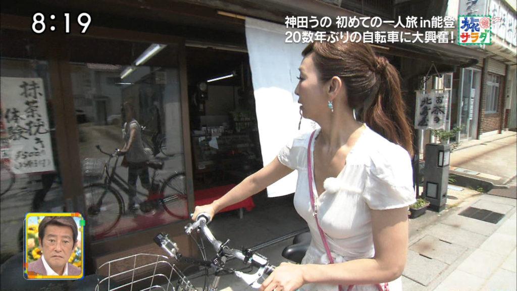 神田うのの巨乳で胸チラエロ画像