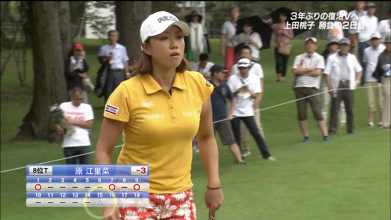 女子ゴルフの巨乳アスリートアスリートのおっぱいエロ画像