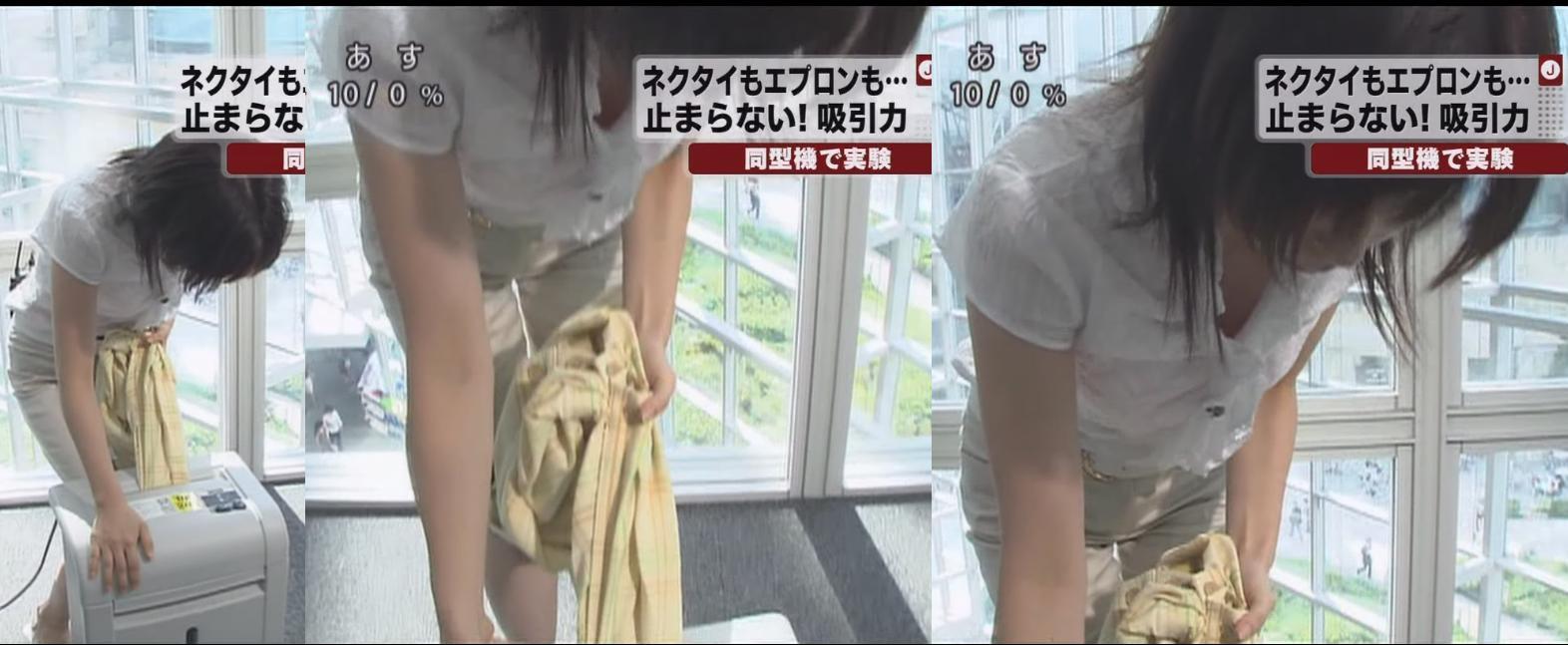 松尾由美子の巨乳で胸チラエロ画像