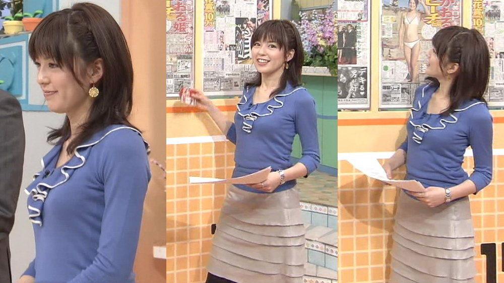 中野美奈子の巨乳で胸チラエロ画像