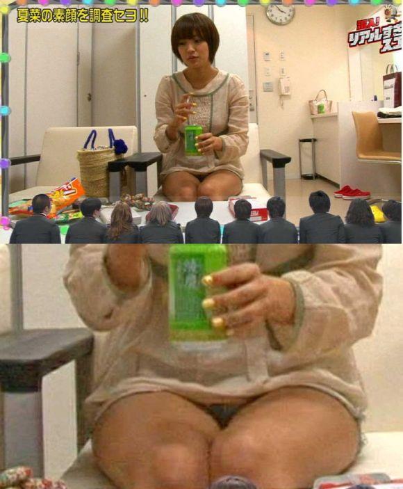 夏菜はパンツ丸見え女王。えろすぎるお宝写真やFカップを総まとめ(厳選えろ写真57枚)