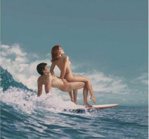 エロすぎるサーフィン全裸