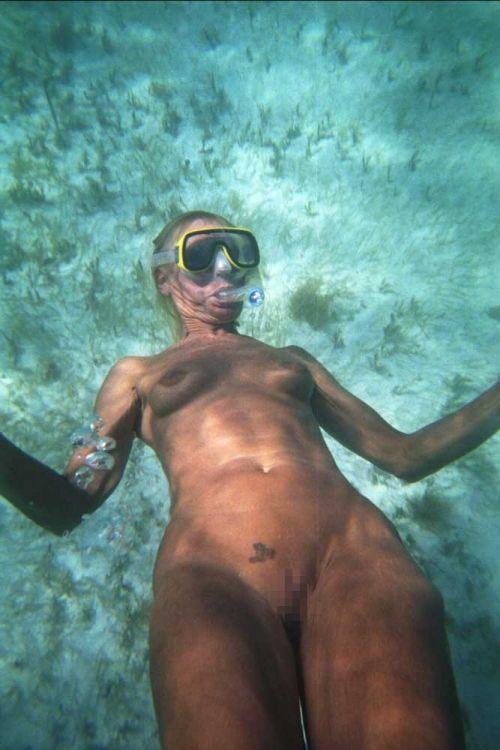 スキューバダイビングのお宝ヌードエロ画像
