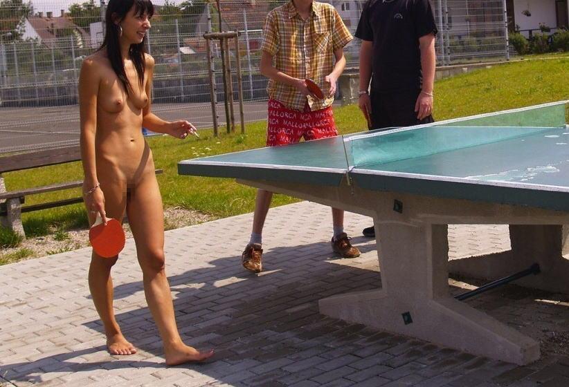 全裸卓球のお宝エロ画像