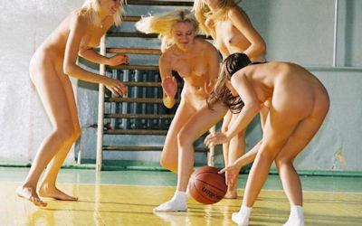 全裸バスケのお宝エロ画像