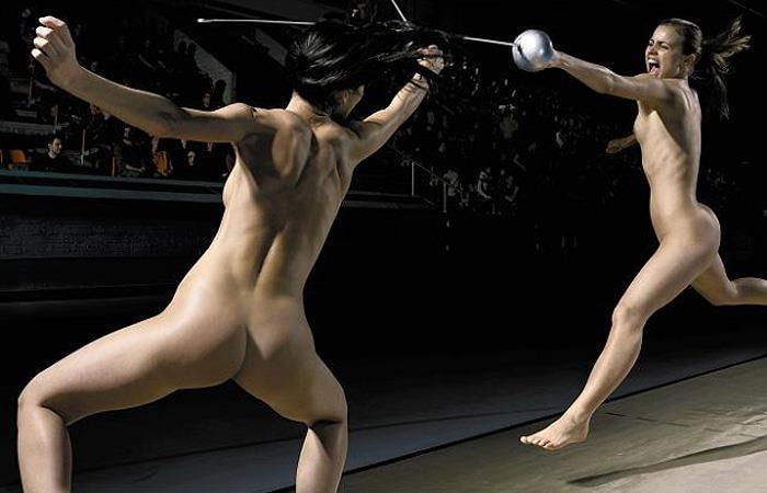 全裸格闘技のお宝ヌードエロ画像