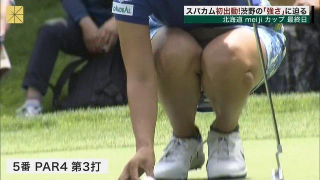 渋野日向子のお宝エロ画像