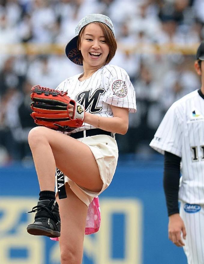 鈴木亜美始球式のお宝エロ画像