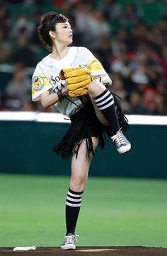 田中麗奈始球式のアイコラ