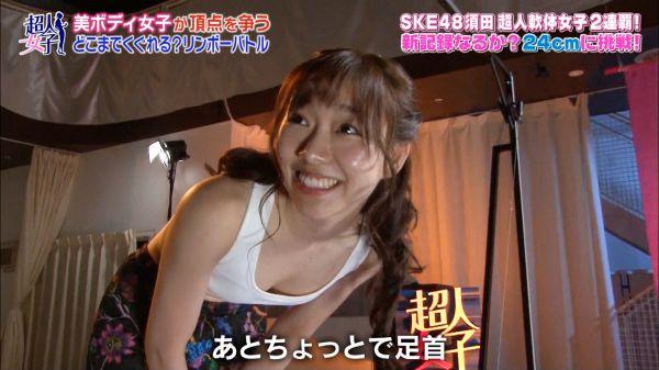 須田亜香里の全裸ヌードで露出画像