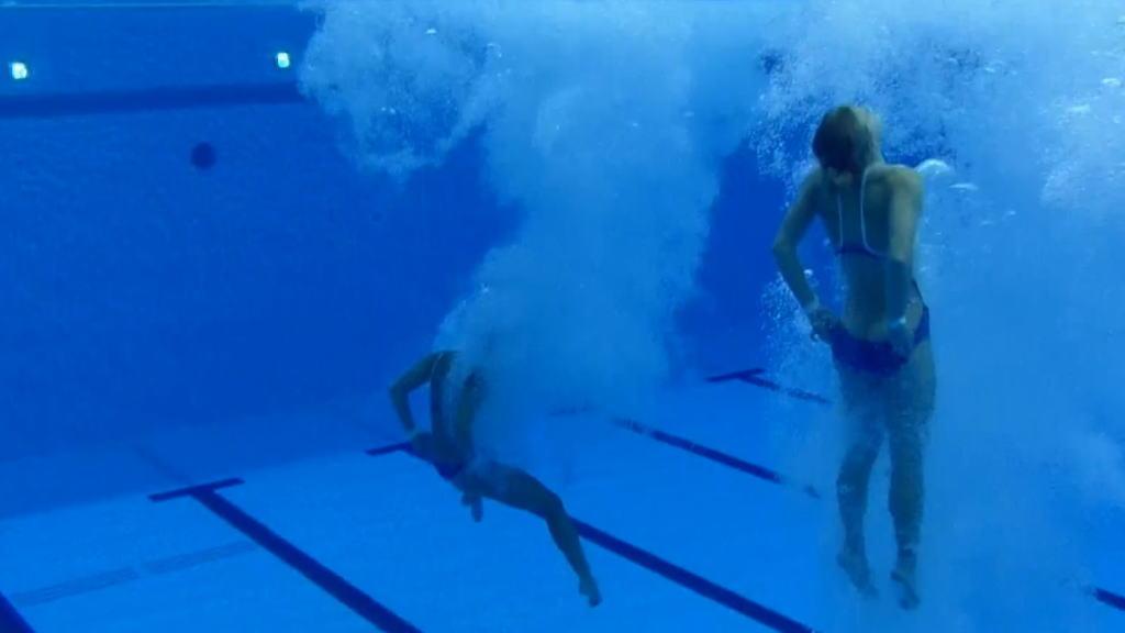 水泳競泳シンクロのアイコラ