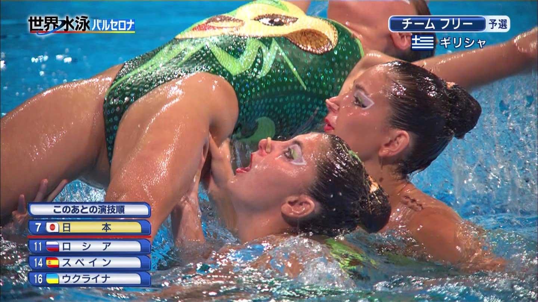 水泳競泳シンクロのお宝ヌードエロ画像