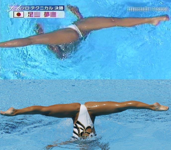水泳競泳シンクロのエロ画像