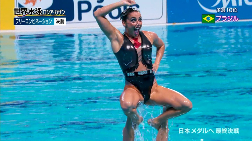 水泳競泳シンクロのAVエロ画像