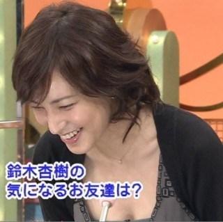 鈴木杏樹の乳首ポロリ画像