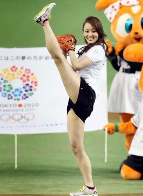 体操・新体操(田中理恵)モロにマンスジやハミマンエロGIF画像