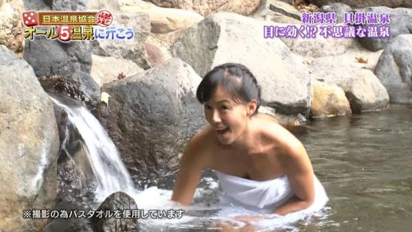 田中律子の全裸ヌードで露出画像