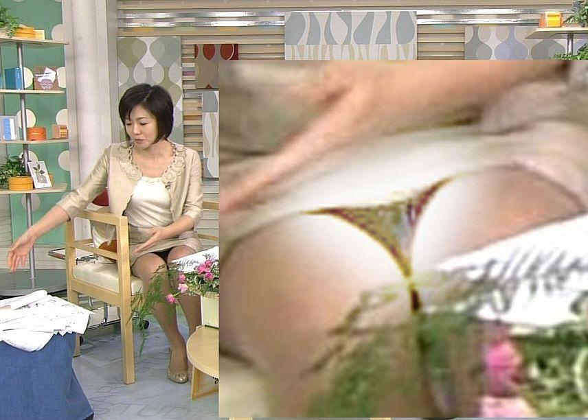 有働由美子のパンチラエロ画像