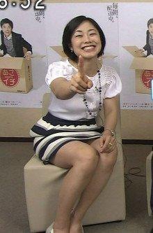有働由美子のパンモロエロ画像