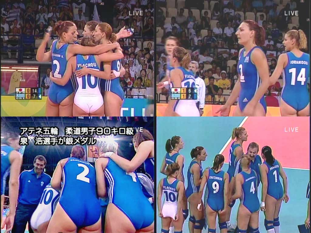 海外女子バレーボールのおっぱい丸出し巨乳エロ画像