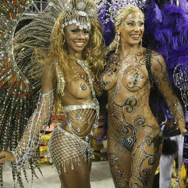 ブラジルリオのサンバはおっぱい丸見えエッチすぎる画像